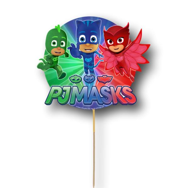 PJ Masks Card Cake Topper
