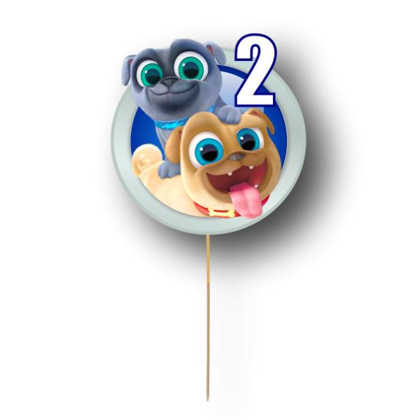 Puppy Dog Pals Card Cake Topper