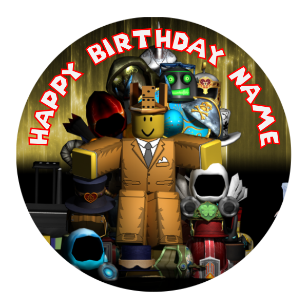 Roblox Edible Cake Topper Viparty
