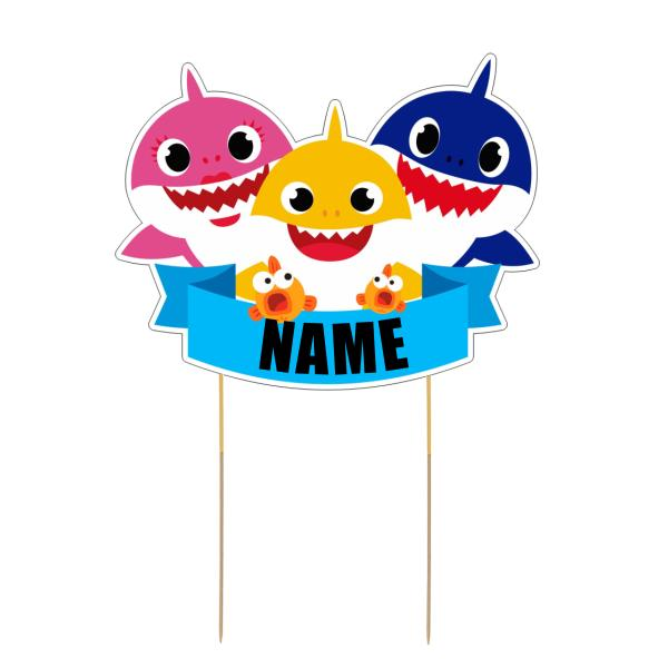 Baby Shark Card Cake Topper