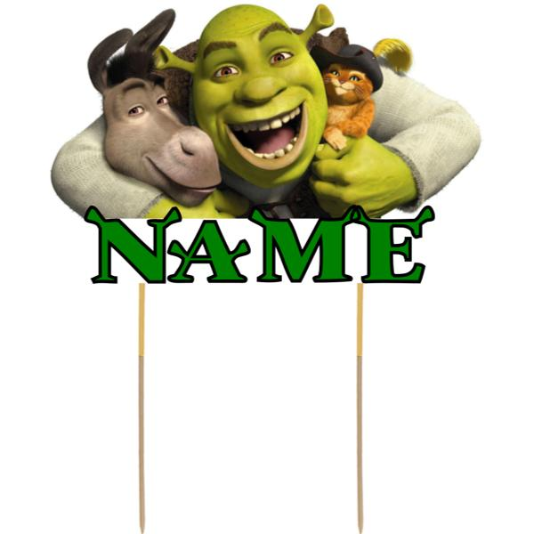 Shrek Card Cake Topper