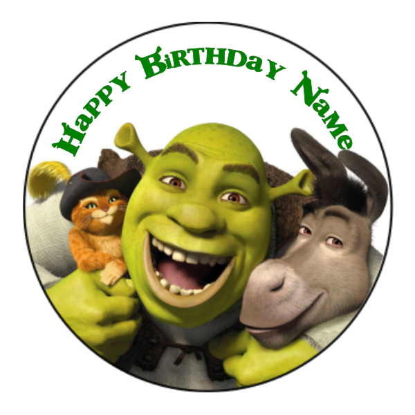 Shrek Edible Cake Topper
