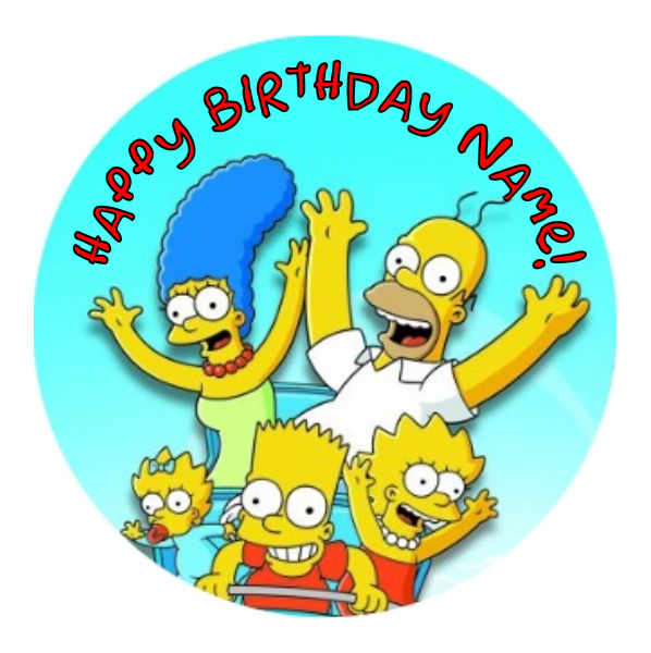 The Simpsons Edible Cake Topper