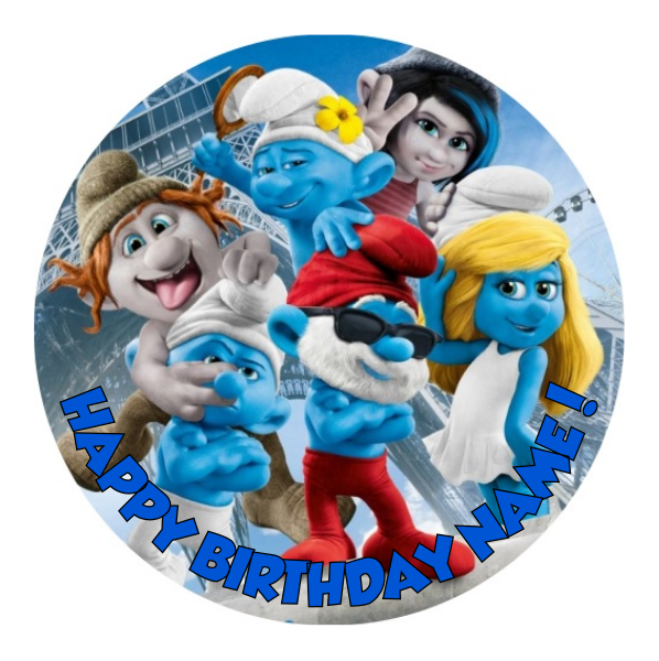 Smurfs Edible Cake Topper
