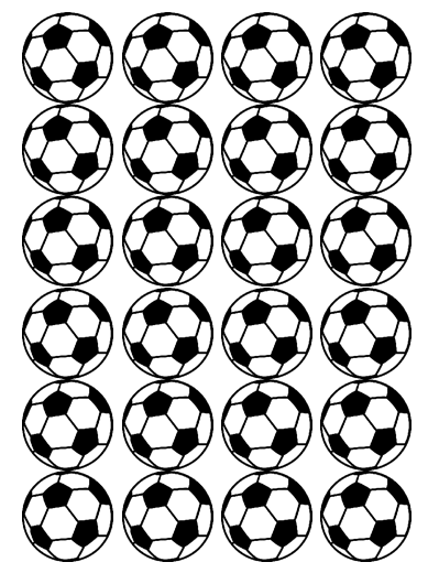 Soccer Ball Edible Cupcake Toppers