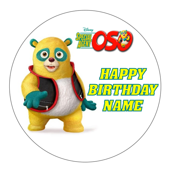 Special Agent Oso Edible Cake Topper