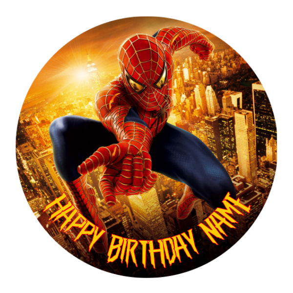 Spiderman Edible Cake Topper