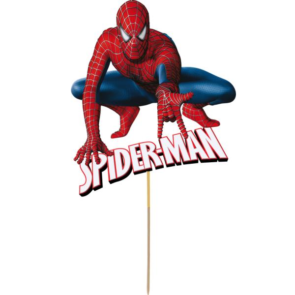 Spiderman Card Cake Topper