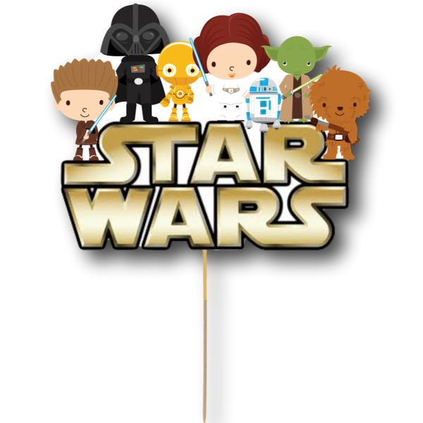 Star Wars Card Cake Topper