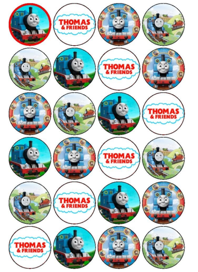 Thomas Edible Cupcake Toppers Viparty
