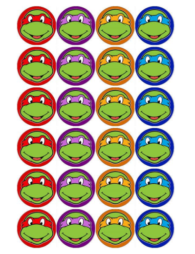 Teenage Mutant Ninja Turtles Edible Cupcake Toppers Viparty