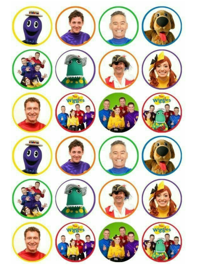 The Wiggles Edible Cupcake Toppers