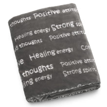 Load image into Gallery viewer, Healing Thoughts Blanket The Perfect Caring Gift (Gray)
