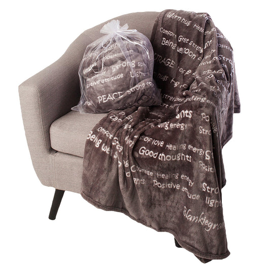 Healing Thoughts Blanket The Perfect Caring Gift (Gray)