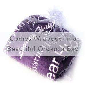 Healing Thoughts Blanket The Perfect Caring Gift (Purple)