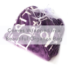 Load image into Gallery viewer, Bravery Inspirational Throw Blanket For Strength & Encouragement (Purple)