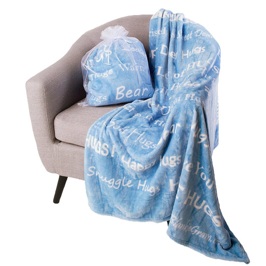 Hugs Blanket The Perfect Caring Gift (Blue)