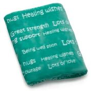 BlankieGram Healing Thoughts Blanket (Teal)
