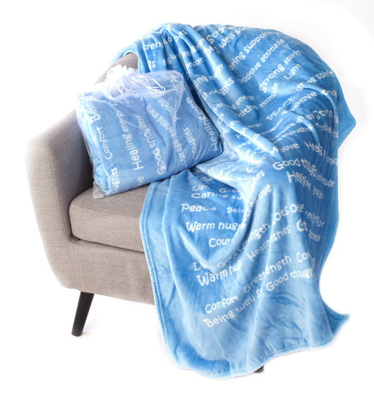 Healing Thoughts Blanket The Perfect Caring Gift (Blue)