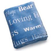 Load image into Gallery viewer, Hugs Blanket The Perfect Caring Gift (Blue)