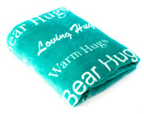 Hugs Blanket The Perfect Caring Gift (Teal)