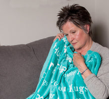 Load image into Gallery viewer, Hugs Blanket The Perfect Caring Gift (Teal)