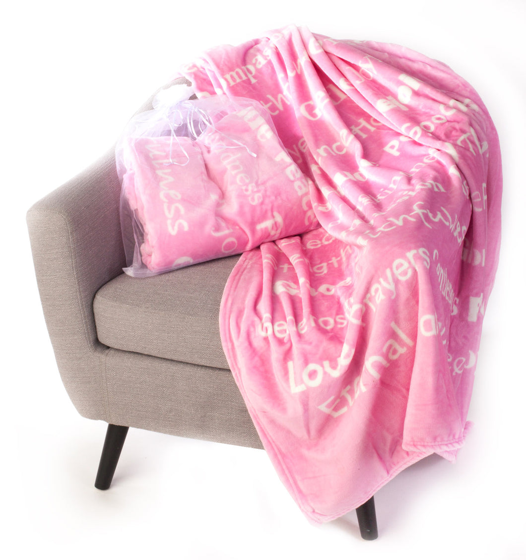 Faith Blanket The Perfect Caring Gift (pink)