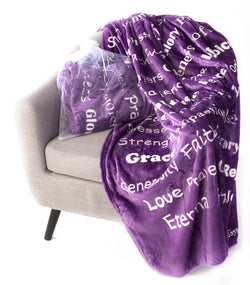 Faith Blanket the Perfect Caring Gift (Purple)