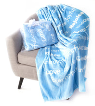 Load image into Gallery viewer, Faith Blanket The Perfect Caring Gift (Blue)