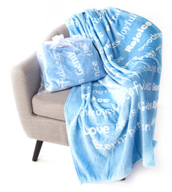 Faith Blanket The Perfect Caring Gift (Blue)