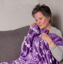 Load image into Gallery viewer, Faith Blanket the Perfect Caring Gift (Purple)