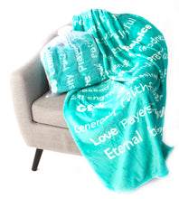 Load image into Gallery viewer, Faith Blanket The Perfect Caring Gift (Teal)