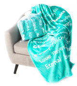 Faith Blanket The Perfect Caring Gift (Teal)