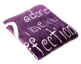 I love You Throw Blanket The Perfect Caring Gift for Best Friends, Couples & Family, ( Purple)