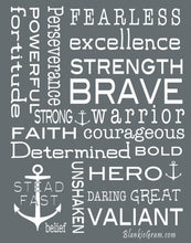 Load image into Gallery viewer, Bravery Inspirational Throw Blanket For Strength & Encouragement (Grey)