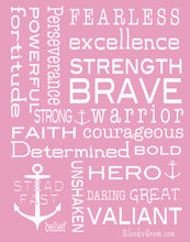 Load image into Gallery viewer, Bravery Inspirational Throw Blanket For Strength & Encouragement (Pink)