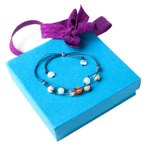 Handmade Blessing Bracelet The Perfect Caring Gift (Blue)
