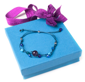 Handmade Healing Energy Bracelet The Perfect Caring Gift (Blue)