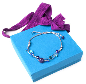 Handmade Healing Energy Bracelet The Perfect Caring Gift (Gray)