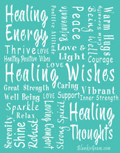 Load image into Gallery viewer, Healing Wishes Throw Blanket The Perfect Caring Gift (Teal)