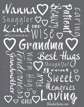 Load image into Gallery viewer, Grandmother Throw Blanket for Kind Loving and Inspiring Grandmas The Perfect Caring Gift (Grey)