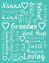 Load image into Gallery viewer, Grandmother Throw Blanket for Kind Loving and Inspiring Grandmas The Perfect Caring Gift (Teal)