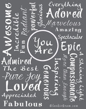 Load image into Gallery viewer, You Are Awesome Throw Blanket to Express Gratitude and Admiration (Grey)