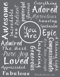 You Are Awesome Throw Blanket to Express Gratitude and Admiration (Grey)