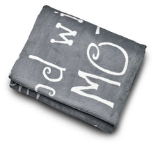 Load image into Gallery viewer, Mother Throw Blanket for Loving, Kind & Inspiring Moms (Grey)