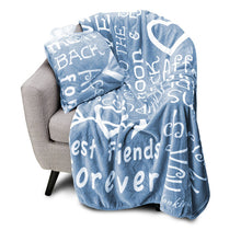 Load image into Gallery viewer, I love You Throw Blanket The Perfect Caring Gift for Best Friends, Couples & Family, (Blue)