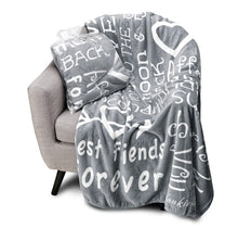 Load image into Gallery viewer, I love You Throw Blanket The Perfect Caring Gift for Best Friends, Couples & Family, (Grey)