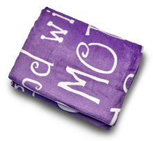 Load image into Gallery viewer, Mother Throw Blanket for Loving, Kind & Inspiring Moms (Purple)