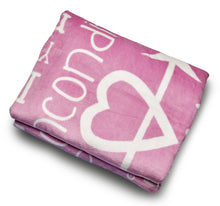 Load image into Gallery viewer, I love You Throw Blanket The Perfect Caring Gift for Best Friends, Couples & Family, (Pink)