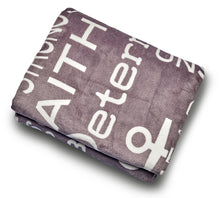 Load image into Gallery viewer, Bravery Inspirational Throw Blanket Strength & Encouragement (Grey)